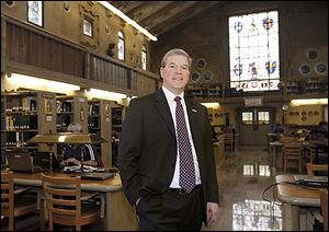 David Livingston was introduced as the ninth president of Lourdes University on Wednesday. He succeeds Robert Helmer.