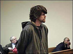 Timothy Mompher of Findlay is arraigned on a misdemeanor charge. He is accused of breaking a kitten's neck at a shelter.
