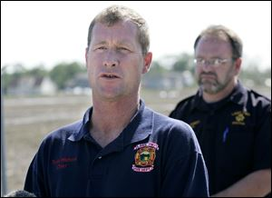 Lake Township Trustee Melanie Bowen said the departures of Chief Walters, left, and two other firefighters stem from a
