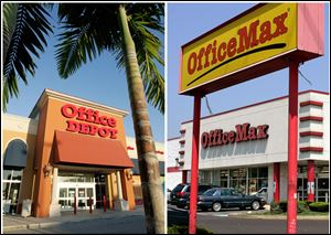 Boca Raton-based Office Depot and Naperville, Ill.-based OfficeMax officially announced Wednesday that they are merging in an effort to compete with the Staples chain, which leads the office-supply store sector. The merger must still be approved by shareholders and federal antitrust regulators.