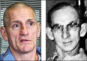 Michael Ustaszewski, left, was convicted of stabbing Henry B. Cordle in 1977 at the downtown YMCA.