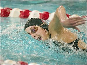 Bowling Green sophomore Emmy Sehmann took a fifth place in the 200-yard freestyle at the state meet.