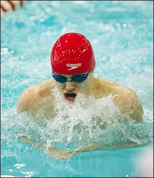 Jack Barone of St. Francis finished second in the 100-yard breaststroke at the Division I state meet.