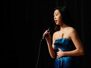 Rachel Dumke, 16, sings 'Someday.'
