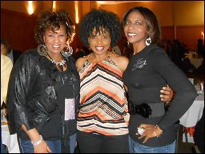Jack and Jill members Rhonda Sewell, left, and Jacqueline Banks-Rivers, right with Jean Jam guest Carla Yvette, center.