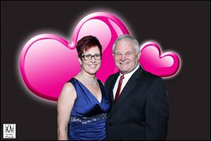 Gina and Rob Krieger were honored for their continued support for the Toledo Northwest Ohio Food Bank at the Hearts of Fire: Feed the Desire Valentine's dance.