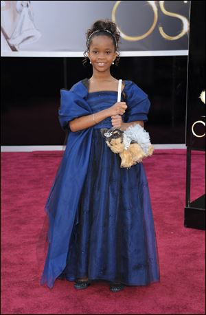 Actress Quvenzhane Wallis arrives at the 85th Academy Awards at the Dolby Theatre Sunday in Los Angeles.