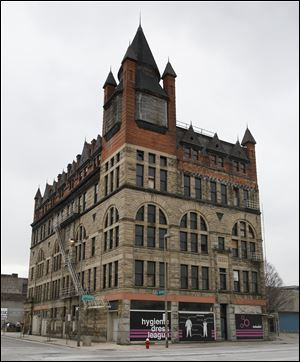 The Pythian Castle, at the corner of Jefferson Avenue and Ontario Street, was built in 1890 by a highly secretive organization called the Knights of Pythias.