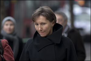 Marina Litvinenko, the widow of former Russian intelligence officer Alexander Litvinenko who died in a London hospital in 2006, with the rare radioactive substance polonium-210 being found in his body.