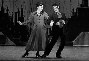 Madeline Trumble as Mary and Con O'Shea-Creal as Bert in the musical 'Mary Poppins.'