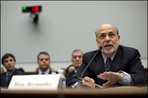 Federal Reserve Chairman Ben Bernanke testifies today on Capitol Hill defending his monetary policies.