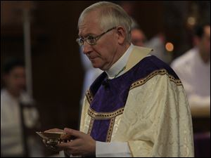 Bishop Blair during Mass.