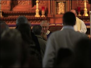 Bishop Blair during Communion.