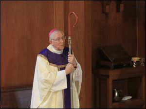 Bishop Leonard Blair during Mass.
