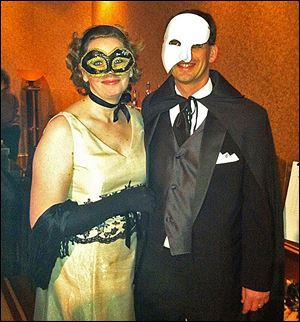 Dave Bodner, Maumee Rotary Service Foundation President and wife Beth, left, attend the Phantom of the Auction.