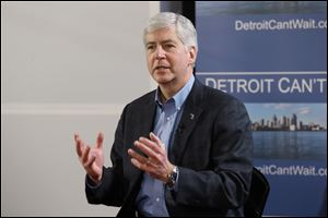 Gov. Rick Snyder declares a financial emergency in Detroit, which could lead to the appointment of an emergency manager over the city's finances.