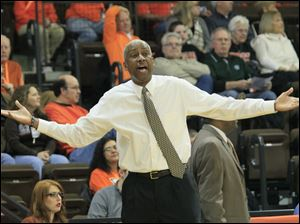 BGSU coach Louis Orr in the first half.