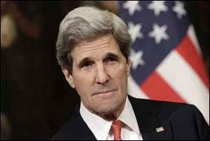 Kerry arrived in Cairo today for meetings with business people, opposition figures and the foreign minister. Talks with President Mohammed Morsi were set for Sunday.