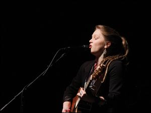 Crystal Bowersox performs at the SeaGate.