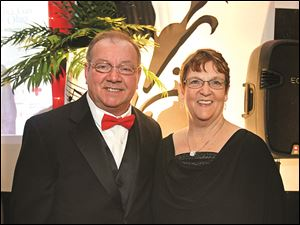 Honorary chairmen president of Owens Community College, Mike Bower and his wife Carol.