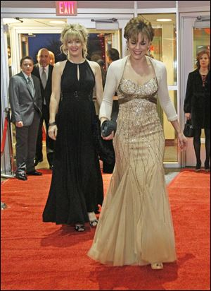 Heather Burrow, left,and Debbie Labadie.  The American Red Cross celebrates their 10th annual Oscar Night.