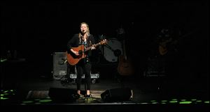 It took chutzpah for Crystal Bowersox to come on stage at the SeaGate Convention Centre and play song after song from her second release, 'All That From This,' which isn't available until March 26.