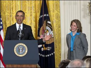 President Obama nominates Wal-Mart Foundation President Sylvia Mathews Burwell to head the Budget Office.
