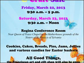Sr. Gretchen's Annual Easter Bake and Craft Sale