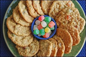 Old-fashioned cookies with gumdrops are delicious as well as pretty.