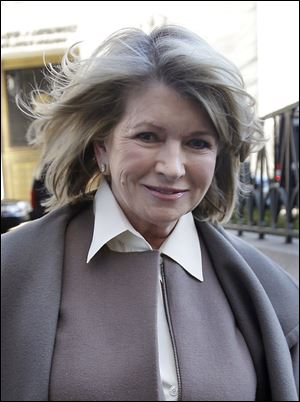 Martha Stewart arrives at New York State Supreme Court in New York.