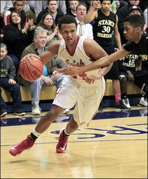 DeShone Kizer, a 6-foot-5 junior guard, averages 9.0 points for Central Catholic. The Irish play Whitmer, which beat Central twice during the regular season.