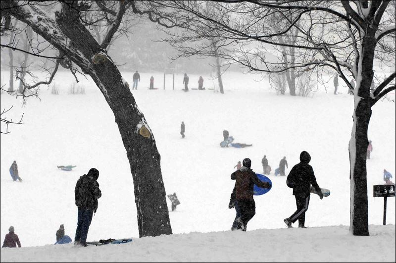 Snow Today in Chicago 2014