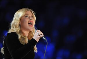 Co-hosts Blake Shelton and Luke Bryan will perform during this year's Academy of Country Music Awards, and will be joined by Shelton's wife, Miranda Lambert, George Strait, Kelly Clarkson (pictured), Hunter Hayes and The Band Perry.