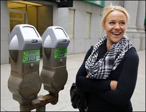 Starr Chellsea Cutino talks about downtown parking meters and a new pay-by-phone application.