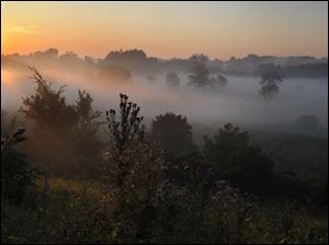 September dawn along the Maumee River as seen from the Fallen Timbers Monument.