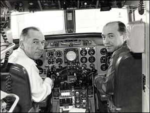 L to R Tracey Service and Claude Hoover in the cockpit.