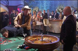 "Dennis Quaid, left, and Michael Chiklis star in the CBS series, ""Vegas."""