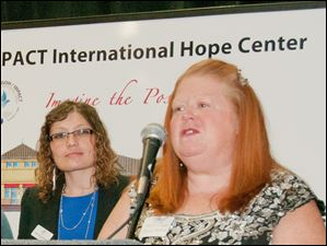 Rebecca Rynn speaks at the Hope Gala.