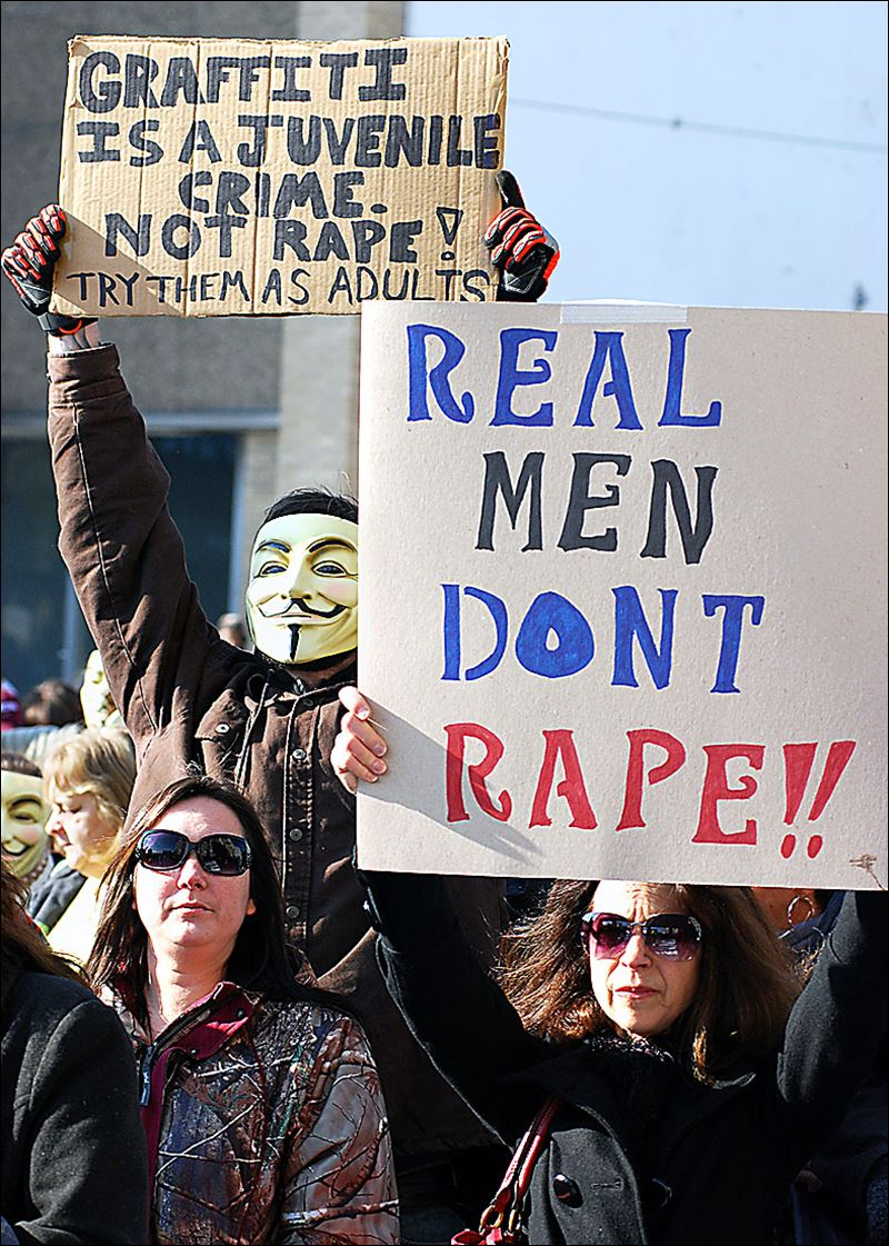 outside the courthouse in Steubenville recently over the rape case ...