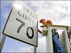 More of these speed-limit signs could be installed on Ohio interstates if a bill headed for a Senate vote this week becomes law.