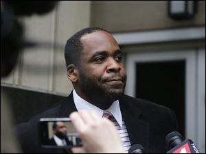 Former Detroit Mayor Kwame Kilpatrick leaves federal court after being convicted today of corruption charges, ensuring a return to prison for a man once among the nation's youngest big-city leaders.