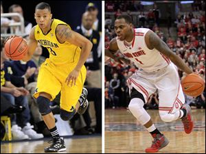 The specter of early departures for the NBA draft, such as Trey Burke, left, and DeShaun Thomas, has raised the win-now stakes for No. 10 Ohio State and sixth-ranked Michigan this March, though especially up north.