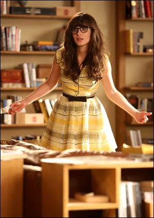 Actress Zooey Deschanel in a scene from 'New Girl.'