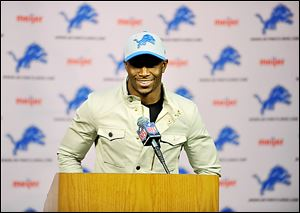 Reggie Bush rushed for more than 2,000 yards in two seasons with the Dolphins. The Lions struggled last year with their running game.