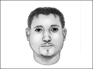 A sketch of the man believed to have attempted to abduct a 15-year-old girl in Toledo.