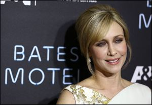 "Cast member Vera Farmiga arrives at the premiere of the A&E television series ""Bates Motel"", Tuesday in Los Angeles."