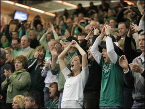 Ottawa Hills High School fans cheer on their team.