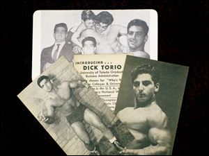 Cards of a young Dick Torio that the Toledo wrestler and bodybuilder would hand out in the early 1950.