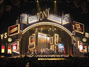 Actors perform a segment from the show Guys and Dolls at the 63rd annual Tony Awards in New York in 2009.