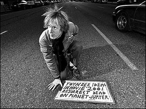 A still image from 'Resurrect Dead: The Mystery of the Toynbee Tiles.'